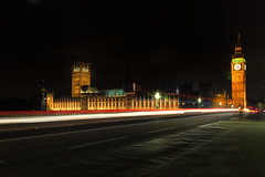 Houses of Parliament (mclcbooks) Tags: bigben riverthames westminster bridge london housesofparliament architecture cityscape longexposure night city westminsterabbey bus lighttracks