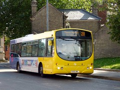 FirstNorwich 66982 - KX05MHL (Zak (Norwich Bus Page)) Tags: firstnorwich routefec28 yellowline 66982 kx05mhl volvob7rlewrighteclipseurban 2016