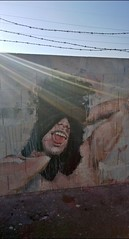 Mural Downtown Las Vegas (LivFree) Tags: mural downtown vegas las nevada portrait light beautiful cool barbed wire paint art street
