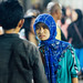 Woman in Hijab Talking with Man, Buleleng Indonesia