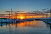 Dinner Key Marina at Sunrise (Fraggle Red) Tags: florida miamidadeco coconutgrove dinnerkeymarina marina boats sailboats morning sunrise sun clouds windy choppy singleexposure tonemapped dphdr adobelightroomcc2015 adobephotoshopcc20155 canoneos5dmarkiii canonef24105mmf4lisusm