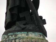 Crushed swastika (Sparky the Neon Cat) Tags: europe germany deutschland berlin treptower park soviet war memorial statue sculpture swastika sword