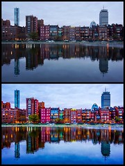 Behind The Scenes On My Editing Style ((Jessica)) Tags: brownstones newengland sky symmetry water massachusetts bluehour skyline dusk architecture city boston esplanade reflection reflections backbay sony lightroommobile sonya6000 behindthescenes a6000 alpha kitlens lightroom processing editing postprocessing comparison