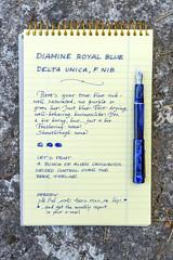 Delta Unica Blue (kitchener.lord) Tags: pens delta unica nib 2016 xf27 stationery oxford diamine royalblue