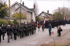 20161111_0047_1 (Bruce McPherson) Tags: brucemcphersonphotography remembranceday southmemorialpark southmemorialparkcenotaph cenotaph vancouverpolice vpd cadets marchpast march marching autumn fall fallleaves memorial vancouver bc canada