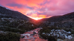 First snow (beaugraph) Tags: mtkosciuszko sunrise landscape colourful clouds snow mountains australia snowymountains deadhorsegap
