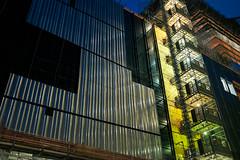 steel walls (ekonon) Tags: steel night city construction wall manhattan architecture nyc