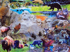 Wildlife at Mount Rushmore (Marietta Wood Works) Tags: jigsawpuzzle