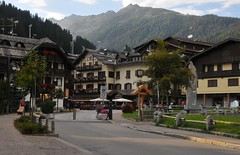 Madonna di Campiglio mountains (Vee living life to the full) Tags: madonnadicampilio skiresort mountains shopping tourists nikond300 italy trentino hotels park trees flowers cafes pavement outside forests aboriculture