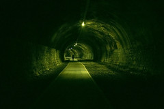 No hay final del tunel (vircarrera) Tags: tunel light green lonely quiet longexposure abandoned