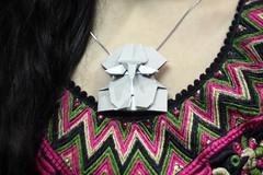 Origami Elephant Head Pendant (Russell John) Tags: origami paper craft folding dhaka bangladesh russelljohn 450d 50mm