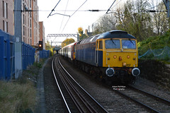 5L46 47812 + 442418 + 442411 Eastleigh Works - Ely Sidings (Adam McMillan Railway Photography) Tags: rog branded 47812 seen approaching west hampstead with 5l46 eastleigh works ely papworth sidings 442418 442411 tow for storage clas 442 loco unit drag