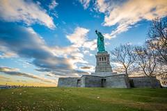 The Statue Of Liberty In All Its Glory (yaznatasha) Tags: newyork nyc newyorkcity usa america canon canon5dmarkiii lightroom outdoors outdoor november winter christmas sunset statueofliberty libertyisland