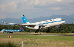 Kuwait Airways. 9K-APA. Airbus A330-243. (Themarcogoon49) Tags: airbus a330 landing gva airport cointrin lsgg planespotting switzerland avgeek