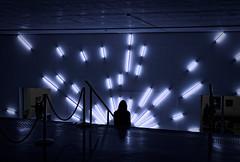 Ultra-moderne solitude / ultra-modern loneliness (Guillaume DELEBARRE (Guigui-Lille)) Tags: néons neonlight interieur interior sigma50mmf14art canon 6d museum musée surréalisme surrealist art