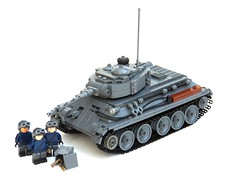 Lego T-34 Russian M-tank ([Stijn Oom]) Tags: army is pieces tank lego russia parts attack legos ww2 soldiers medium a20 t34 russan