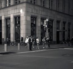 Martin Place, Sydney (Geoff A Roberts) Tags: street urban bw 120 rolleiflex zeiss landscape photography place martin geoff sydney australia carl medium format roberts rodinal ilford fp4 bcd planar pl 80mm adonal 28e