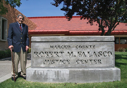 Friend of the court: Falasco at the justice center that now bears his name