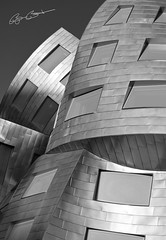 Lou Ruvo Center (Explored April 7 ,2012 #187) (Bjrn Burton Photography) Tags: windows abstract building contrast blackwhite cityscape lasvegas nevada steal d800 nikond800 nikon2470mm28g louruvocenter bjornburton braintreatment
