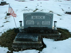 Henry and Irene Block (Philip Weiss) Tags: grave tombstone genealogy guttenbergiowa guttenbergcemetery