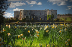 Chirk Castle (dekiha) Tags: park flowers flower castle castles nature wales photoshop garden spring picnic fuji chirk nationaltrust hdr beginner hs20 bridgecamera top20castle clwydd castlespalacesmanorhousesstatelyhomescottages