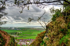 Framed View (Stephen Whittaker) Tags: sky cliff cloud tree field rock rural landscape countryside high nikon industrial factory flat pov valley plain factories d5100 whitto27