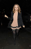 Kimberley Walsh enjoys a night out with friends in the West End. London, England