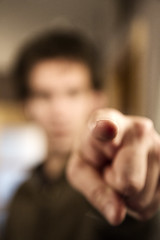 Day 123 (Michael Rozycki) Tags: portrait blur self canon project point personal finger fist 7d 365 1755 clench