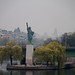View over the Seine towards the statue of liberty