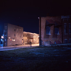 (patrickjoust) Tags: street city urban usa color 120 6x6 tlr film night analog america dark lens us reflex md focus long exposure fuji photographer mechanical united release tripod meta north patrick twin maryland slide cable baltimore chrome after medium format states tungsten manual 55 expired joust e6 balanced estados reversal unidos mamiyac330s autaut fujichromet64 sekor55mmf45 patrickjoust