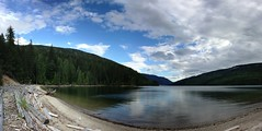 Hidden Beach (urbanworkbench) Tags: autostitch lake water lakerevelstoke
