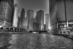 Chicago River (Anton Shomali - Thank you for over 600K views) Tags: city bridge bw white chicago black gulfofmexico water buildings river boat canal downtown lakemichigan mississippiriver trumptower michiganavenue wackerdrive chicagoriver downtownchicago bigcity gooseisland michiganavenuebridge wellsstreetbridge