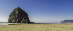 Cannon Beach (jeffyllin) Tags: ocean sunset beach rock oregon coast sand haystack cannonbeach haystackrock