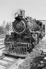 ETR 9 (Ramblings From The 4th Concession) Tags: steamengine 260 mlw blackandwhitephotos blackandwhitetrains waterloocentralrailway etr9 canonrebelxsi stjacobsont mlwsteamengine canon18135stmlens