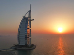 burj al arab sunset (dwain) Tags: sunset al dubai arab burjalarab burj