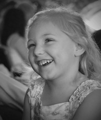 Katarina (B&W) (DownHomeGirl2013) Tags: portrait people blackandwhite girl smile closeup granddaughter laugh