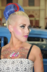 The Great British Tattoo Show 2013 (sharkskin2) Tags: pink england sexy london beauty hair pain breasts models saturday rubber piercing beckham latex needles allypally ditta burleque thegreatbritishtatooshow2013