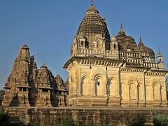 Khajuraho - Parvati & Visnawath Temples (zorro1945) Tags: india ganesha asia stonecarving temples shiva hindu hinduism jain dama artha parvati khajuraho hindutemples madhyapradesh jainism kharma indianarchitecture moksu vishnawath