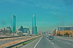 COSTANERA CENTER TITANIUM TOWER. SANTIAGO CHILE (Blue__Velvet) Tags: city cidade tower edificios carretera center build costanera norte milenium santagodechile
