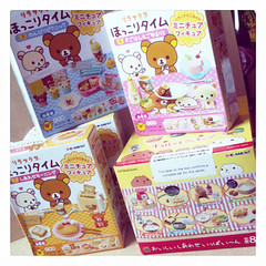 Today's Re-ments <3 (Neskouik) Tags: cooking lunch miniature box ment bento re rement recolor rilakkuma fullset kapibarasan ryutto