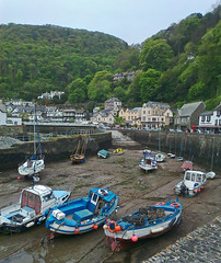 Lynmouth, North Devon (Tudor Barlow) Tags: england boats seaside spring village harbour villages devon phonecamera lynmouth northdevon nokia300