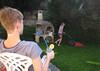 Housework (Martin Erik Valter) Tags: fun sister brother lawn siblings housework joking lawnmowing lawnmover
