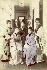 Prostitutes at Nectarine no.9 Brothel (Yokohama) (noel43) Tags: japan japanese women prostitution yokohama prostitutes nectarine pleasure meiji brothel quaters no9 jinpuro shinpuro