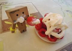 Raspberries! It's too good! (Damien Saint-) Tags: toy amazon vinyl pepsi yotsuba danbo calbee amazoncojp revoltech danboard