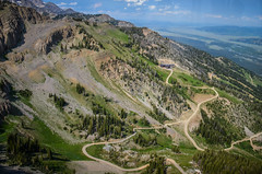 View from the Jackson Hole Tram (m01229) Tags: mountains landscapes view unitedstates jackson wyoming jacksonhole tetonvillage jacksonholetram d5100