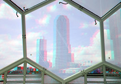 Floating Pavilion Rijnhaven 3D (wim hoppenbrouwers) Tags: 3d rotterdam neworleans anaglyph stereo kopvanzuid redcyan rijnhaven floatingpavilion