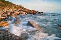 Sunset waves (Pete Burrows 2) Tags: uk longexposure sunset sea waves dorset chapmanspool isleofpurbeck sonyalphadslr