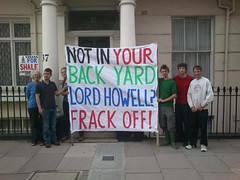 Fracking lobbyist Lord Howell's house is for shale!