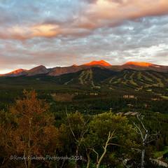 The Slopes of Breckenridge, Colorado (RondaKimbrow) Tags: morning ski mountains clouds sunrise landscape colorado resort skiresort summertime breckenridge boreaspass skislopes alpineglow rondakimbrowphotography