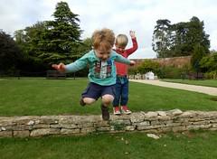 Jack jumping the gun (Shamus O'Reilly) Tags: kids jack happy jumping funny leo action blenheimpalace pleasuregardens jumpingshot